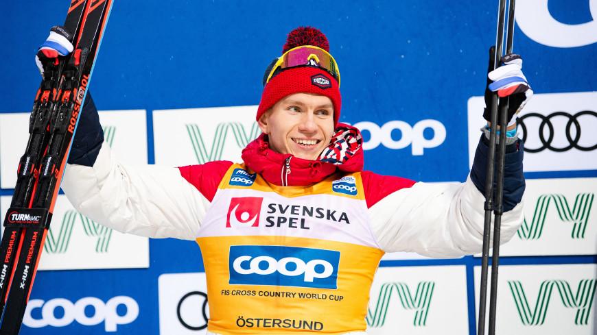 Лыжник Большунов одержал победу в масс-старте в рамках «Скитура»