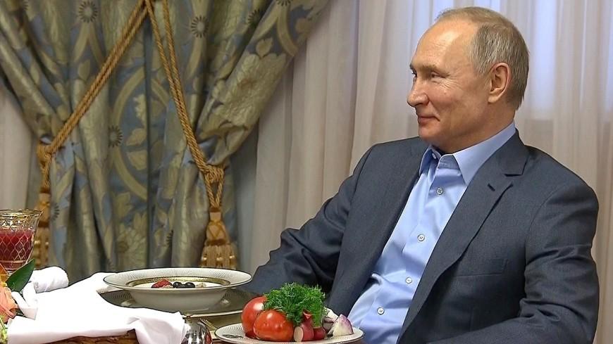 Путин угостил Лукашенко кашей с ягодами