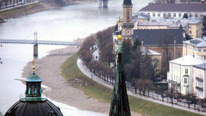 Зальцбург вид сверху, зальцбугр (австрия)