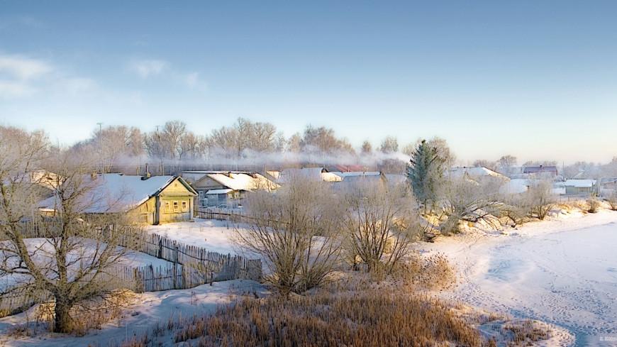 Зима (снег, сугроб, холод, мороз, деревня, дача, дом, природа)