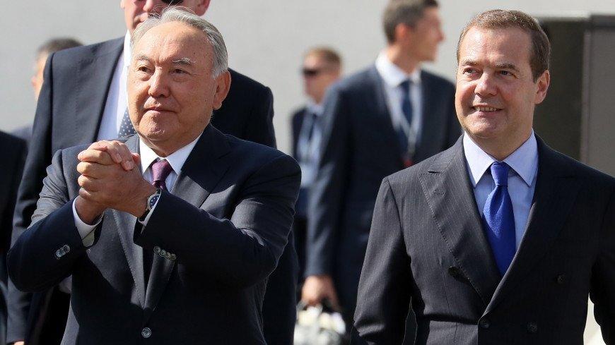 Медведев: Назарбаев всегда выступал за углубление сотрудничества Казахстана и России
