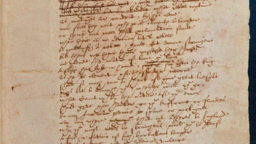 Единственную сохранившуюся рукопись Шекспира представили в Сети