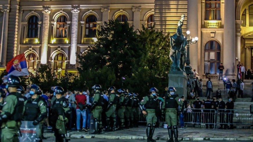 Беспорядки в Белграде: пострадали 43 стража порядка и 17 демонстрантов