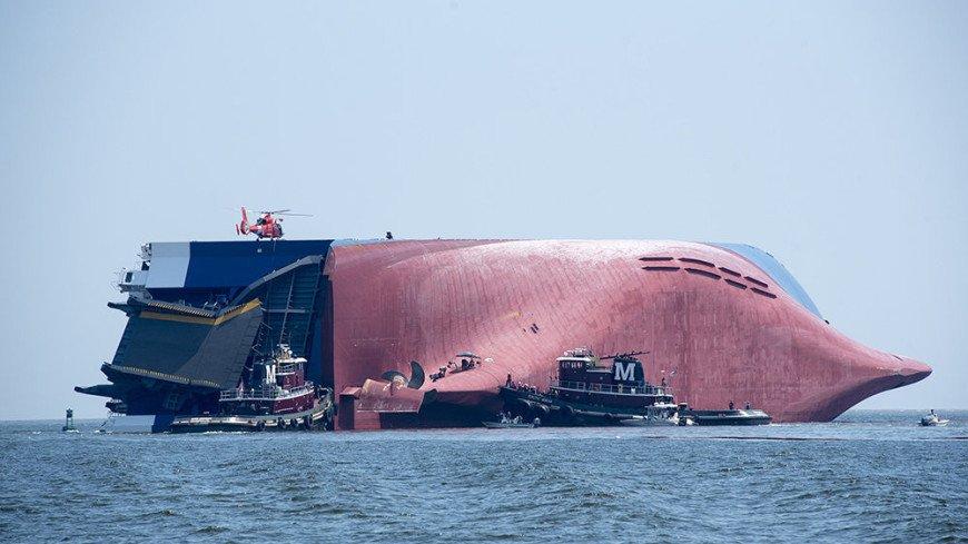 Затонувшее судно с тысячами Hyundai и Kia решили утопить в океане