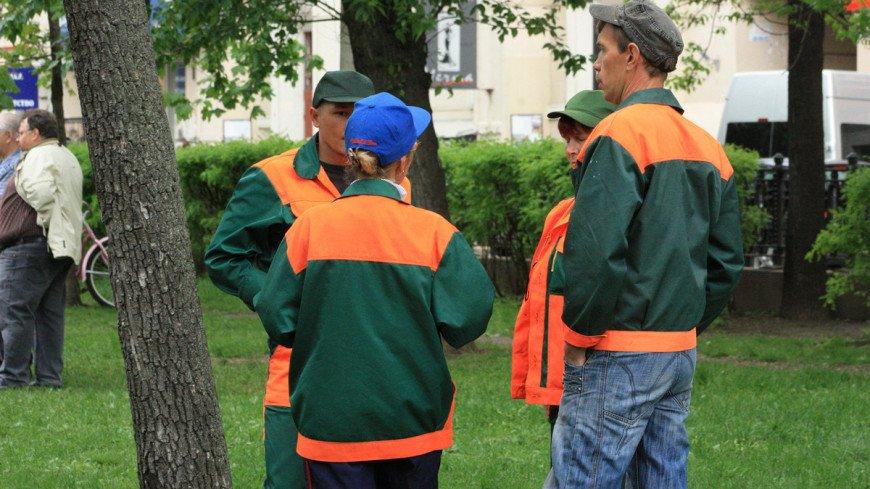 Рабочие, озеленение, дворники, рабочие