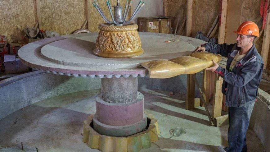 Фонтану в виде букета из масличных растений на ВДНХ вернут исторический облик
