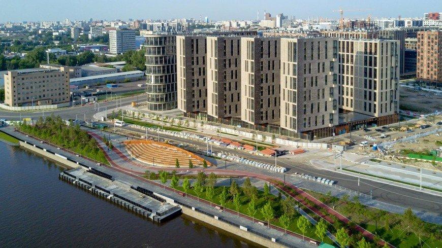 В Москве построили причал с амфитеатром