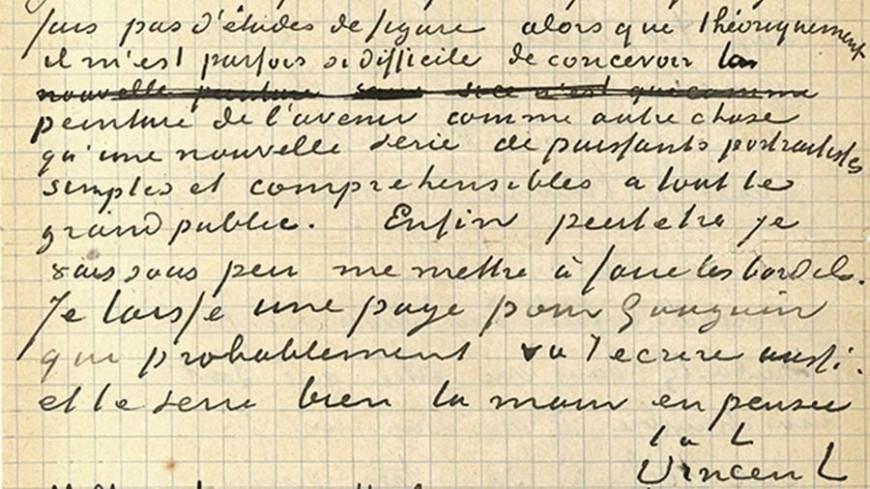 Совместное письмо Ван Гога и Гогена ушло с молотка за €210 тысяч