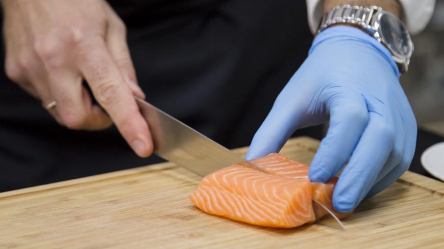 ресторан, готовить, кухня, турандот, еда, лосось, семга, красная рыба,