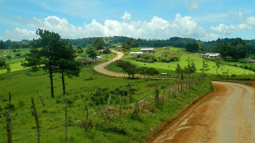 гондурас, центральная америка, америка, природа, пейзаж, дорога
