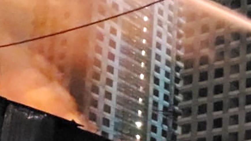 На востоке Москвы сгорел склад на площади 1500 кв метров