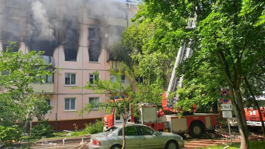 МЧС: Пожар в квартире на северо-востоке Москвы локализован