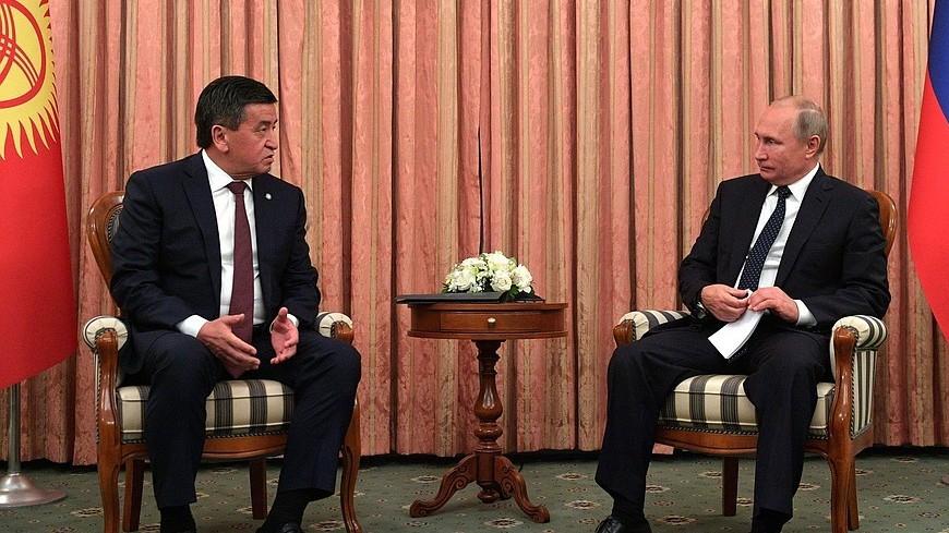 Путин поговорил по телефону с президентом Кыргызстана Сооронбаем Жээнбековым