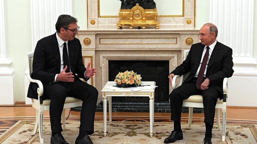 Путин поздравил Вучича с победой Сербской прогрессивной партии на парламентских выборах