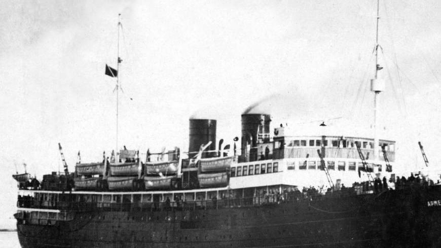 Затонувший в 1941 году теплоход «Армения» опознали по судовому колоколу