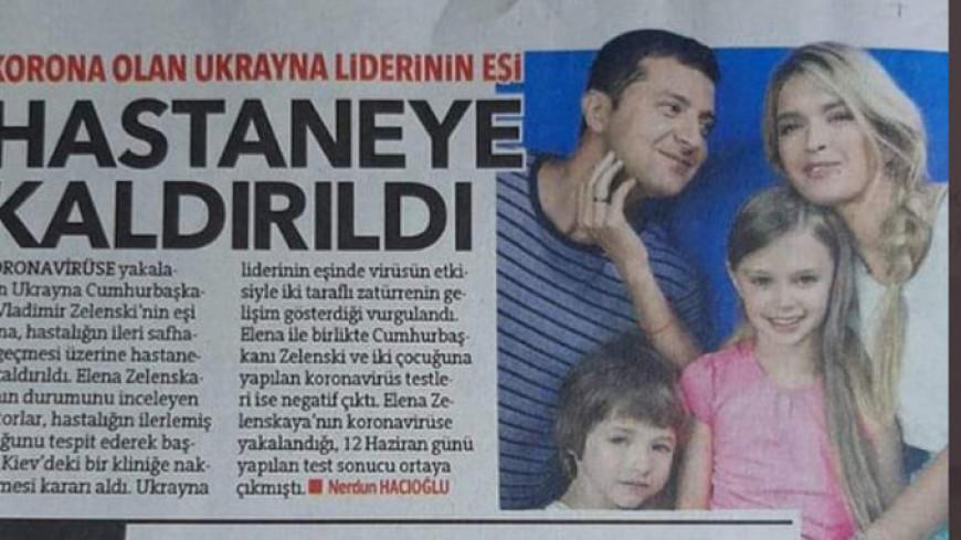 Турецкая газета поженила Владимира Зеленского с Верой Брежневой