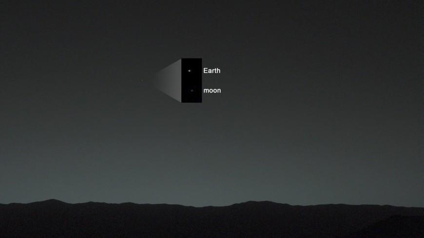 Марсоход Curiosity сделал редкий снимок Земли и Венеры