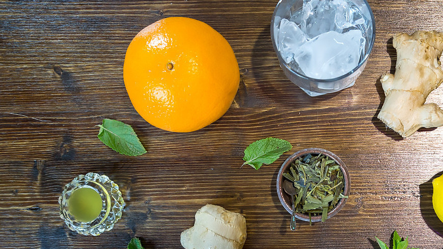 "Фото: Татьяна Константинова (МТРК «Мир») ""«Мир 24»"":http://mir24.tv/, мята, еда, кухня, имбирь, лимон, апельсин, лед"