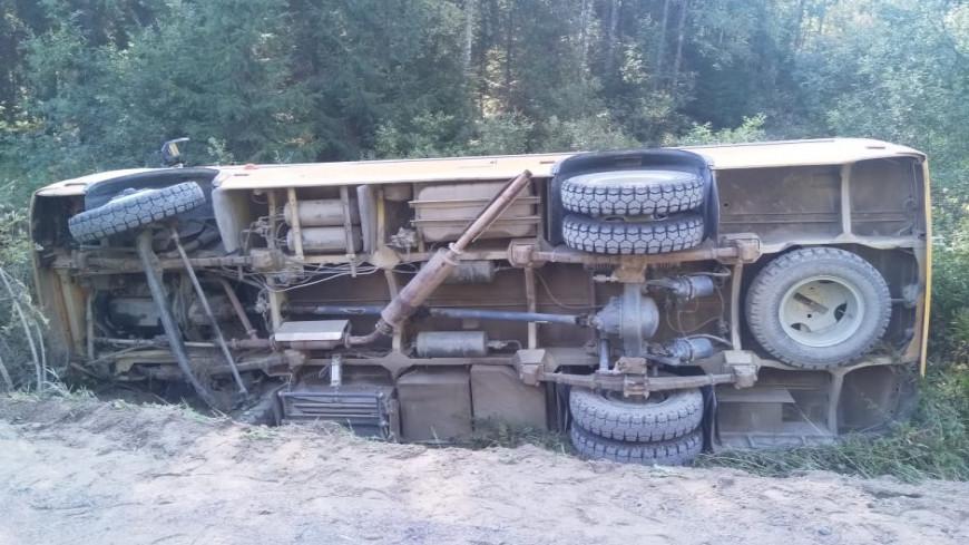 В Карелии перевернулся автобус с людьми: есть пострадавшие