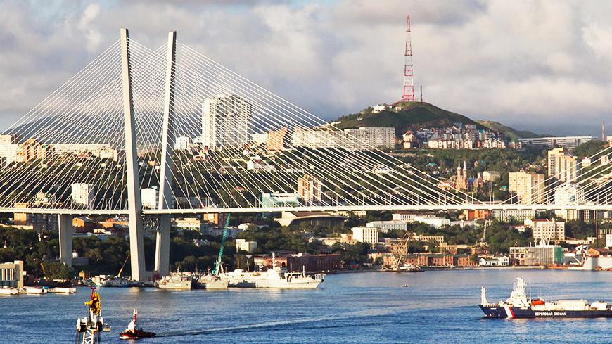 """Фото: Петр Королев, """"«МИР 24»"""":http://mir24.tv/, мост, владивосток, золотой мост"""