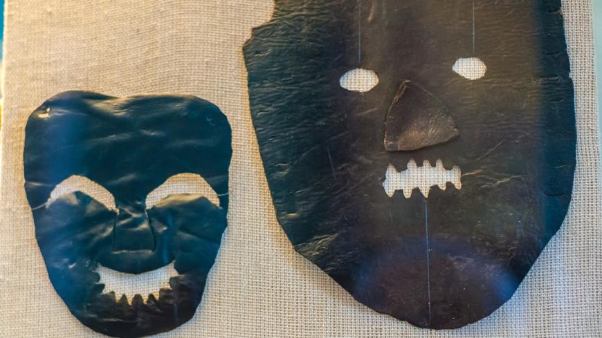 Государственный сторический музей г. Москвы,древность, раскопки, археология, маска, страх, ,древность, раскопки, археология, маска, страх,