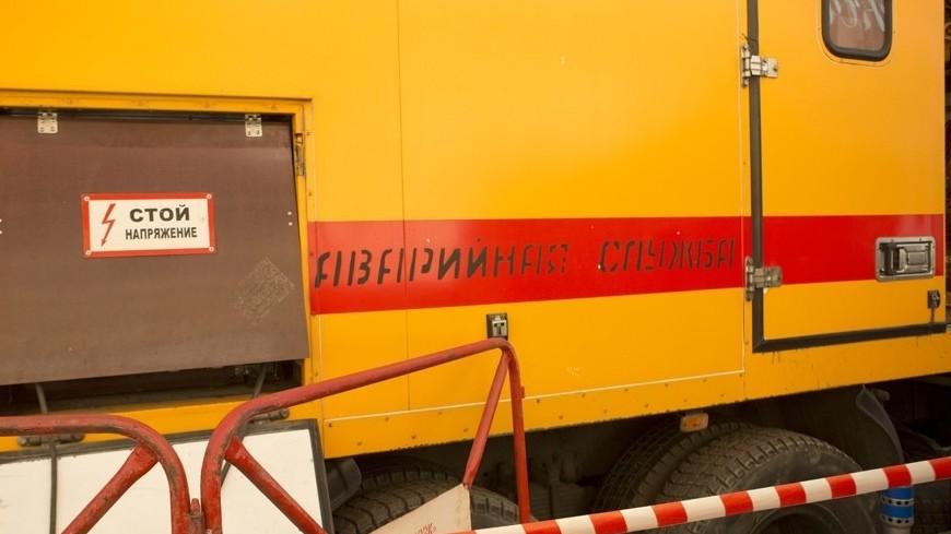 © Фото: Алан Кациев, «МИР 24», аварийная служба, грузовик, мосгортранс, аварийный знак