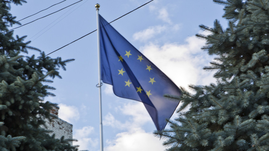 """Фото: Алан Кациев, """"«Мир 24»"""":http://mir24.tv/, евросоюз, представительство европейского союза, ес, флаг евросоюза"""
