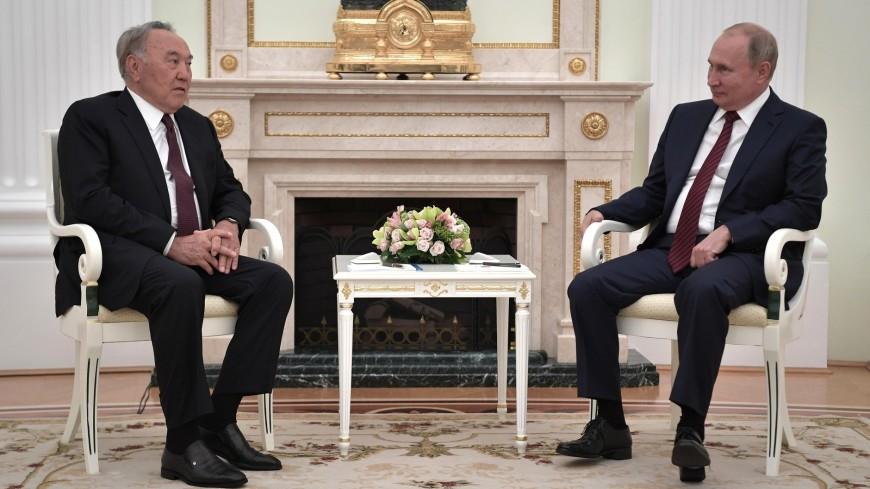 Путин и Назарбаев обсудили ситуацию в Сирии