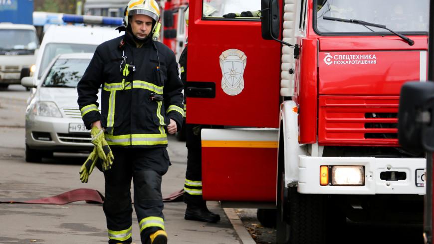 На северо-западе Москвы произошел пожар в отделе полиции