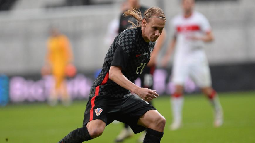 Защитник сборной Хорватии Домагой Вида узнал, что заразился COVID-19, в перерыве матча