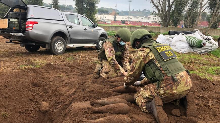 На тренировочной базе «Ромы» нашли снаряды времен войны