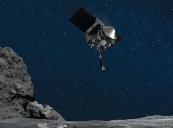 Американский зонд рассыпал часть грунта, собранного с астероида Бенну