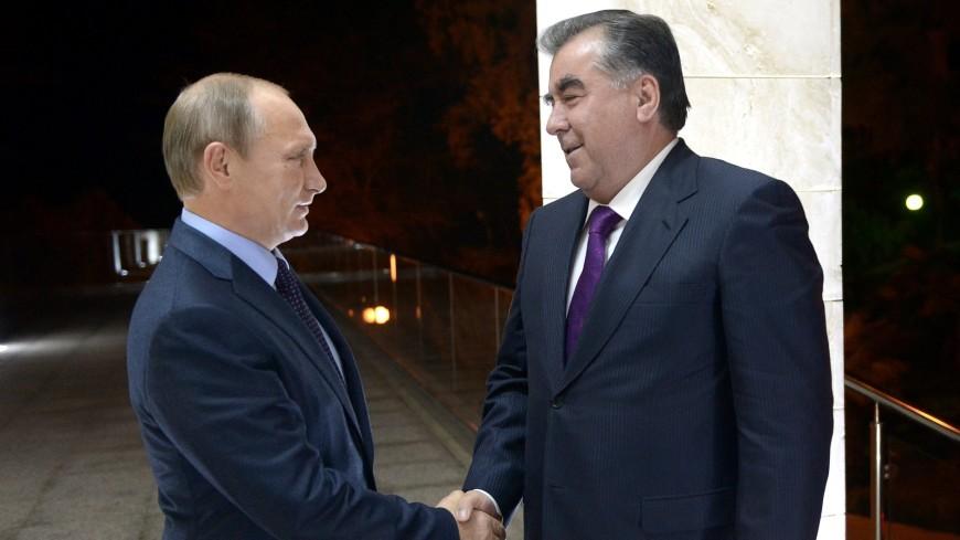 Владимир Путин поздравил Эмомали Рахмона с победой на выборах президента Таджикистана