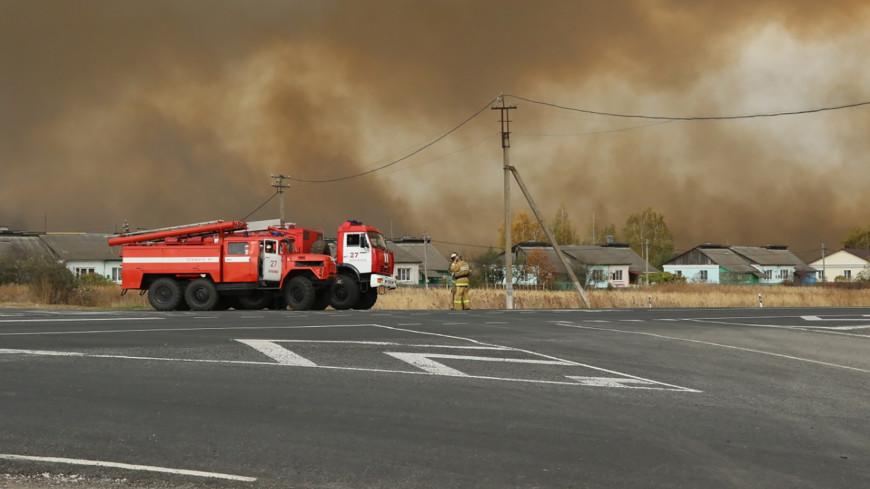Район пожара на складе под Рязанью обследуют беспилотники