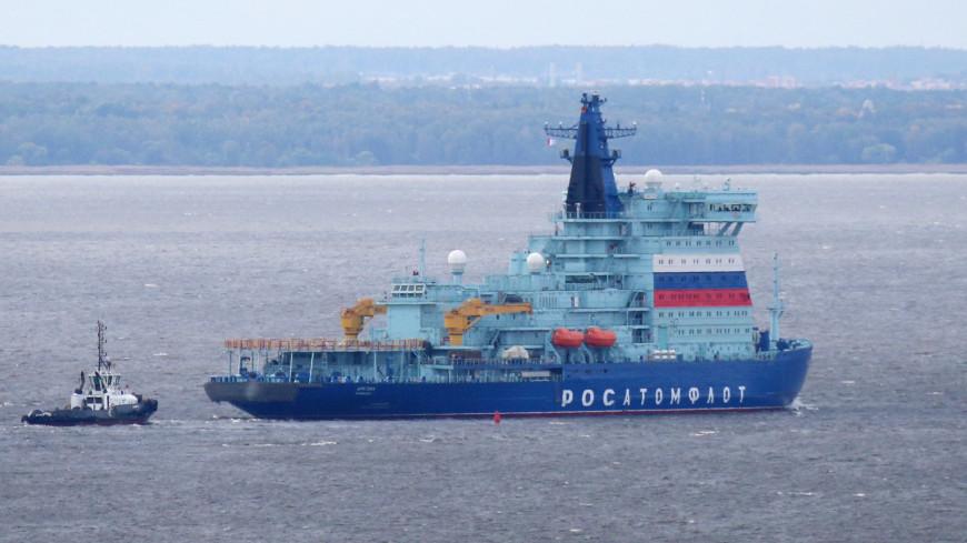 Атомный ледокол «Арктика» добрался до Северного полюса