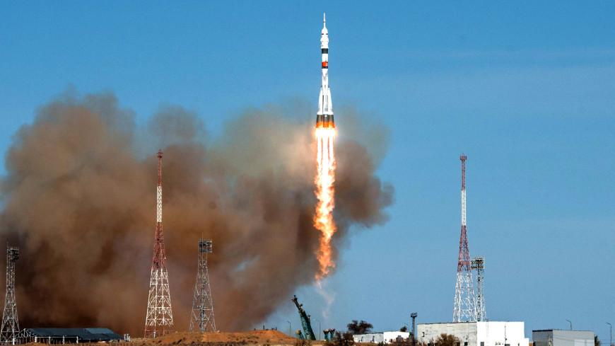 Космонавт Вагнер сфотографировал с борта МКС старт «Союза»