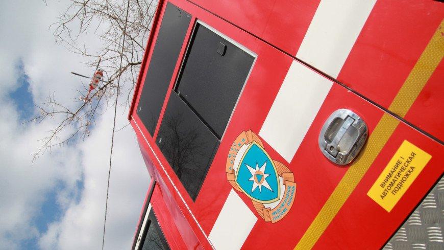 В Нижегородской области загорелся танк-памятник