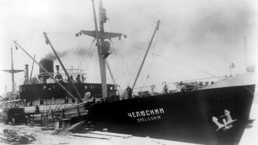 Моряки Северного флота впервые сняли затонувший пароход «Челюскин» на видео