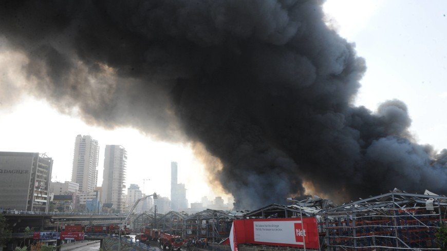 Президент Ливана: Пожар в порту Бейрута мог быть преднамеренной диверсией