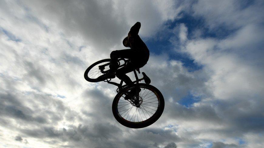 Полеты на велосипедах: в Германии прошли соревнования горных байкеров