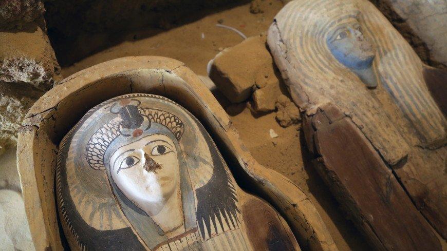 В Египте обнаружили 27 саркофагов возрастом более 2,5 тысячи лет