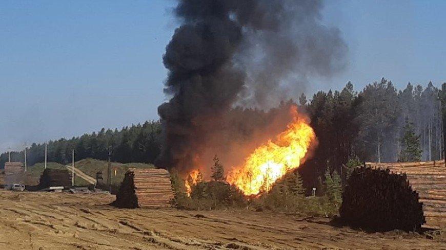Газопровод «Ангарск – Саянск» загорелся в Иркутской области
