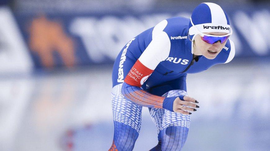 Конькобежка Воронина получила из США табличку с указанием своего рекорда