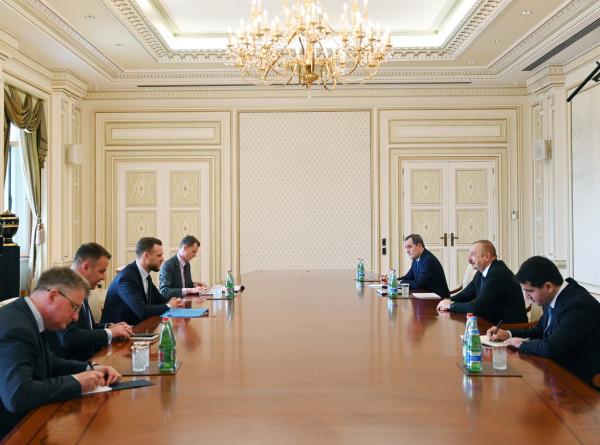 Ильхам Алиев обсудил с главой МИД Литвы сотрудничество Азербайджана с ЕС