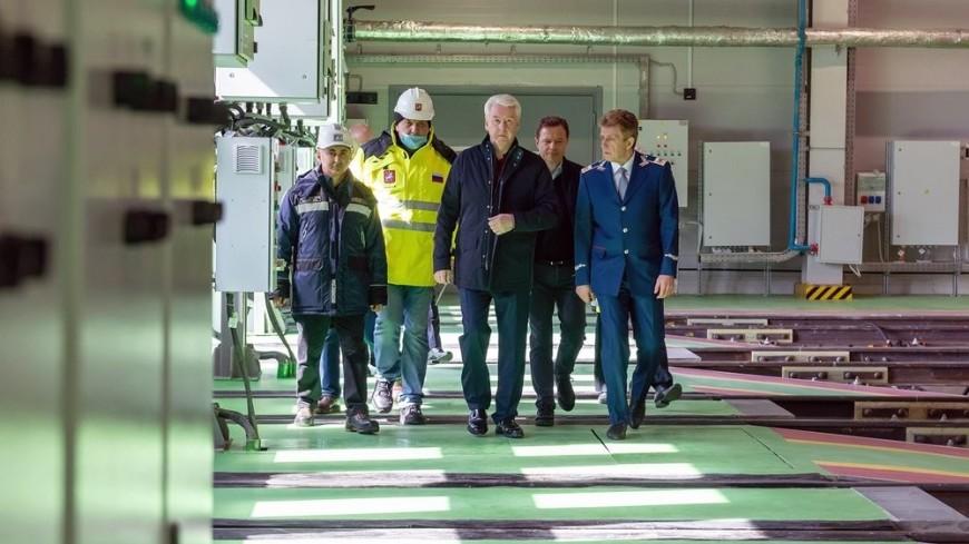 Собянин открыл новый пусковой комплекс электродепо «Сокол»