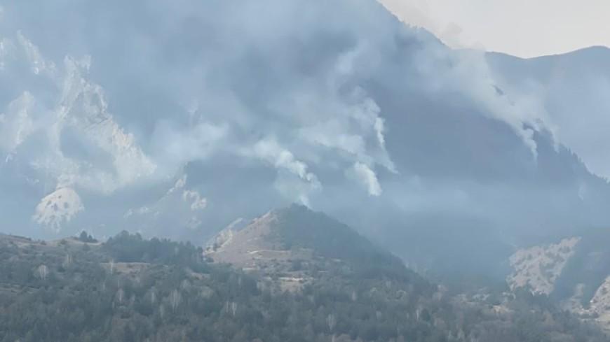Спасатели и лесники тушат природный пожар в горном районе Дагестана