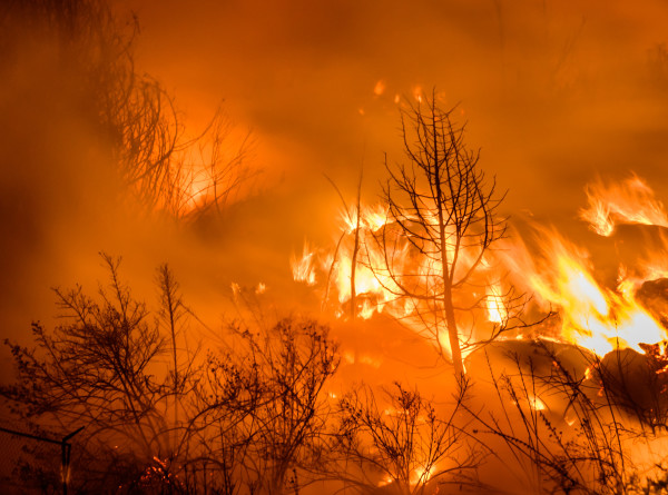 Огонь охватил аэропорт города Санта-Крус-де-ла-Сьерра в Боливии