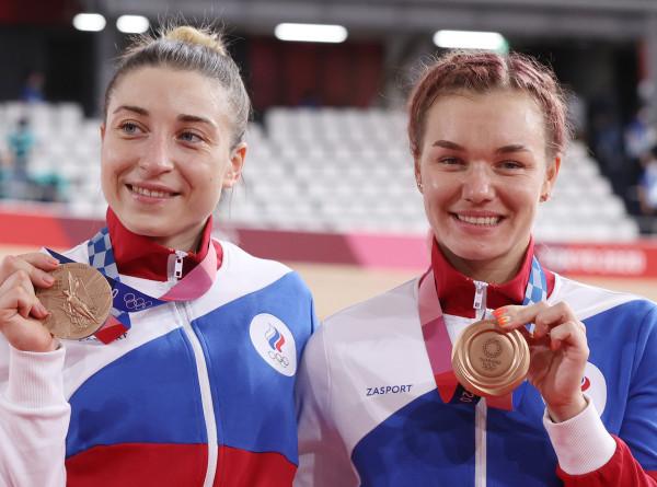 Россиянки Шмелева и Войнова взяли бронзу в командном спринте по велотреку на Играх в Токио