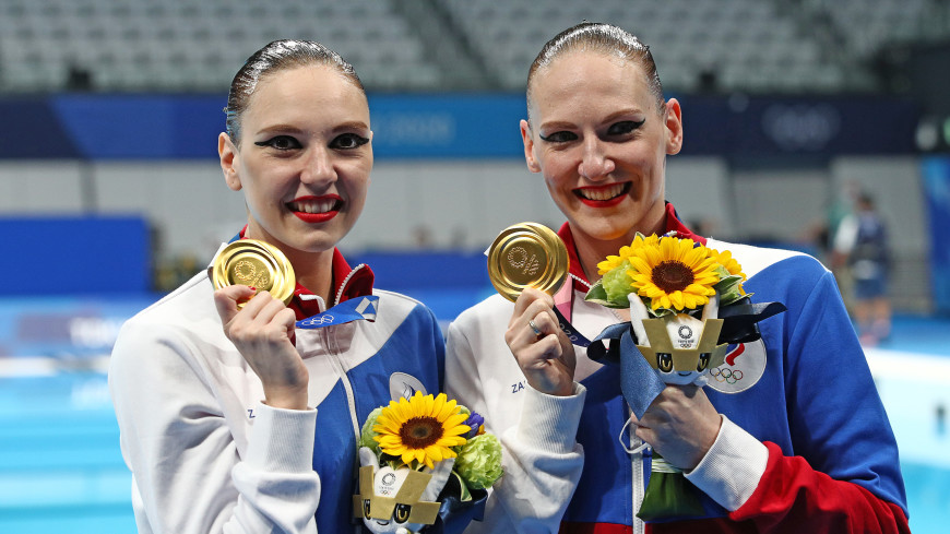 Российские синхронистки Колесниченко и Ромашина завоевали золото в дуэте на ОИ в Токио