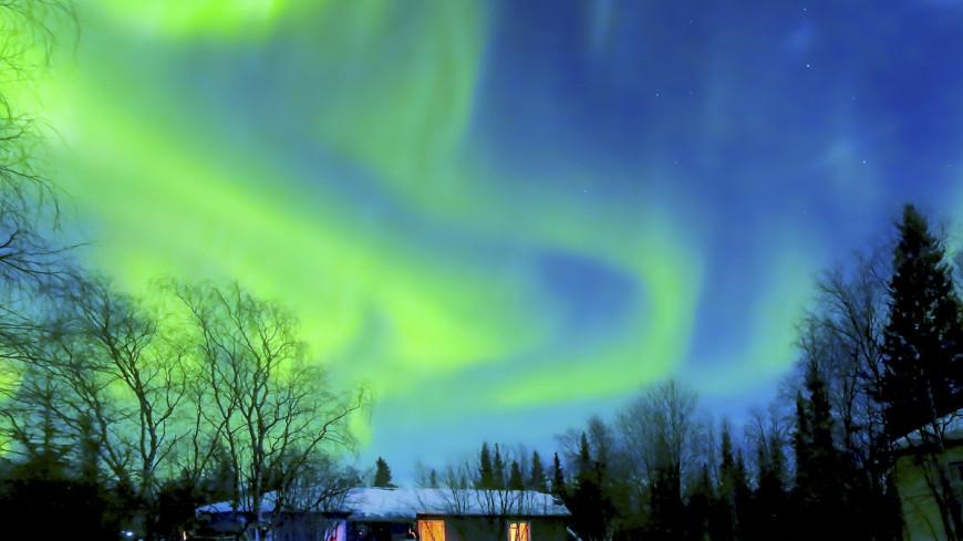 Жители Ленинградской и Вологодской областей могут наблюдать северное сияние